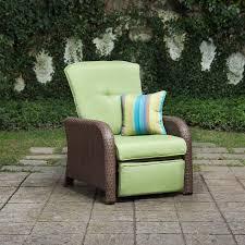 Patio Recliner Chairs Sawyer Patio Recliner Cilantro Green La Z Boy Outdoor