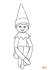 Small Picture Coloring Pages Kids Elveswatching With Girl Also Elves