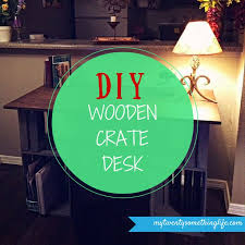weekend project crates desk office diy wood simple give