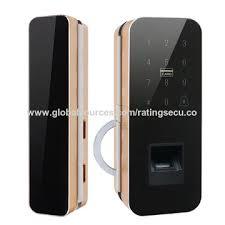 china smart sliding glass door lock support fingerprint password cards and remote