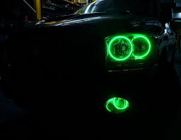 Halo Lights For 2006 Dodge Ram 2006 Dodge Ram Multi Color Oracle Halo Headlights Fog