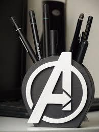 <b>Avengers</b> Logo, <b>Avengers</b> Gift, Desk Organizer Gift,<b>Avengers</b> Holder ...