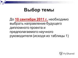 Презентация на тему Дипломное проектирование Акинфиева Наталья  3 Выбор