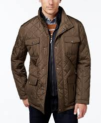 London Fog Men's Big & Tall Quilted Jacket with Zip Inset - Coats ... & London Fog Men's Big & Tall Quilted Jacket with Zip Inset Adamdwight.com