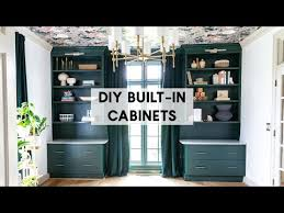 how to build diy built in cabinets with