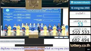 ลุ้นสลากกินแบ่งรัฐบาล 16 กรกฎาคม 63  อีจัน EJAN - YouTube