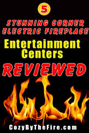 corner electric fireplace entertainment center