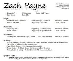 Actress Sample Resumes Classy Child Actor Resume Format 48 Sample Musical Theatre Pinterest