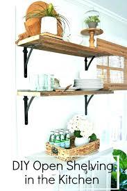 rustic kitchen shelves wooden shelves