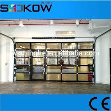 glass panel garage door ss sliding door with pedestrian access door aluminum ss panel garage door glass panel garage