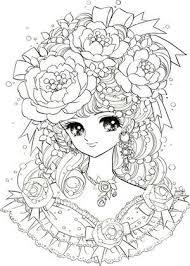 女の子向けお姫様 プリンセスの塗り絵ぬりえ 無料画像テンプレート