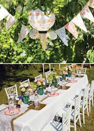 vintage fl party banner and tablescape