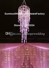 hangging only no stand including high quality decoration acrylic crystal hanging chandelier for wedding hall decorating a hall for a party decorating for a