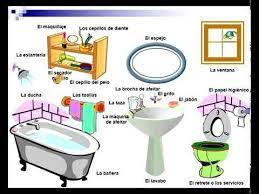 Spanish Vocabulary The Bathroom Youtube