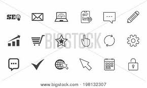Internet Seo Icons Vector Photo Free Trial Bigstock
