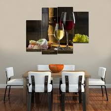 dining room 4pcs hd canvas print painting wine wall art decor picture modern regarding dining on wine and dine canvas wall art with dining room appealing dining room wall art 4pcs hd canvas print