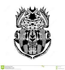 эскиз скарабея Zentangle стилизованный для футболки печати плаката