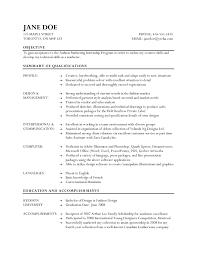 Fashion Designer Resume Reference Fashion Resume Objective Examples