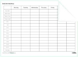 Daily Activities Template Daily Itinerary Planner Template Schedule Free Activities