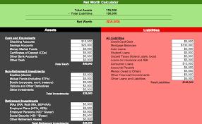 Net Worth Calculator Net Worth Calculator For Numbers Free Iwork Templates