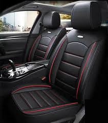 black pu leather car seat covers