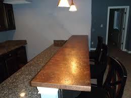 Copper Top Kitchen Table Copper Bar Tops Kitchen Bath Bar Circle City Copperworks