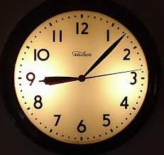 telechron 1l 715 illuminated wall clock