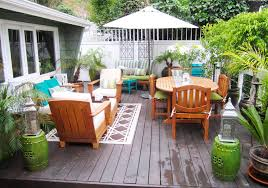 Outdoor Living Room Furniture For Your Patio Remodelaholic Backyard Beauty Deck Makeover Galore Guest