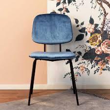 Esstisch Stühle Savossa In Blau Samt Im Retro Design Pharao24de