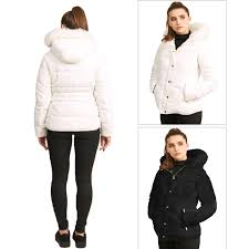 Designer Puffer Coat With Fur Hood Details About Womens Brave Soul Designer Padded Jacket Ladies Faux Fur Hooded Soft Puffer Coat