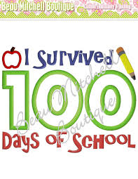 100 Days Of School Applique Design I Survived 100 Days Of School Applique Embroidery Design