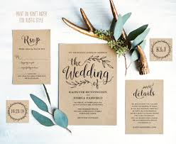 Diy Wedding Invitations Templates Invitation Cards Designs