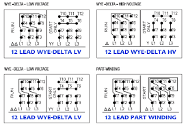 wiring diagram 12 lead 3 phase motor wiring image 3 phase motor wiring diagram 6 leads 3 image on wiring diagram 12 lead