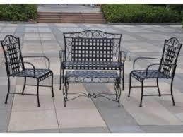 iron patio 4 piece scroll settee group by international caravan 32495 color black attractive rod iron patio