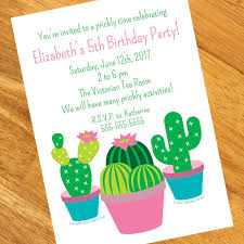 Birthday Invitation Pictures Beauteous Cactus Personalized Invitations