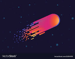 Galaxy Design Modern Design Gradient Comet In Galaxy Space