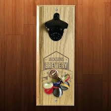 wall bottle openers brewery themed engraved wooden wall bottle opener with magnetic bottle cap catcher wall wall bottle openers wall mounted