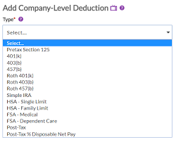 Deduction Types In Patriot Software