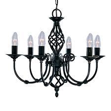 Kronleuchter Lüster ø50cm 6x60w Schwarz Pendelleuchte Kerze