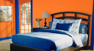 Orange Color For Bedroom This Is A Complementary Bedroom With A Color Scheme Of Bright