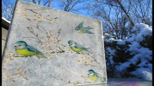 how to decoupage a glass block