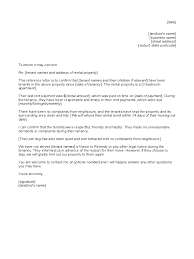 reference letter to tenant from landlord d1