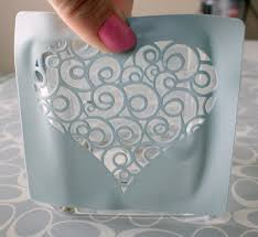 how to make glass etching stencil