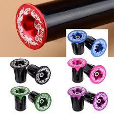 <b>1Pair Aluminum Alloy</b> Handlebar Grips Bar End Plugs Cap For MTB ...