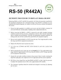 Rs 50 R442a Retrofit Procedure To Replace R404a Or R507