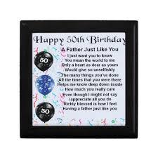 father poem 50th birthday gift box