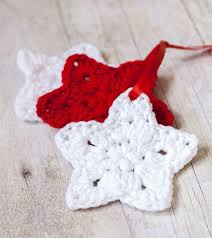 Crochet Christmas Ornaments Patterns Adorable Crocheted Star Homemade Christmas Ornaments AllFreeChristmasCrafts