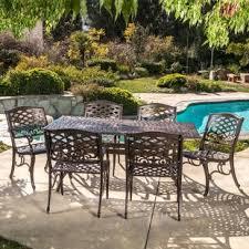 cast aluminum patio chairs. Burkhardt Cast Aluminum 7 Piece Outdoor Dining Set Patio Chairs D