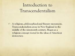literary period transcendentalism by katelyn brook ppt video  introduction to transcendentalism