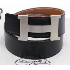 Hermes Belt Buckle Black Palladium Reversible H Constance Gold Leather 42mm 85